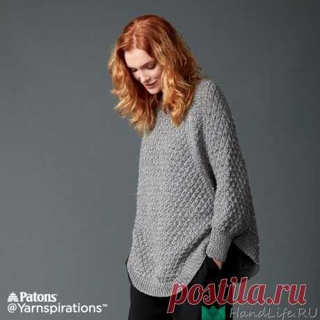 Пуловер - Пончо GREAT CURVES KNIT PONCHO / Вязание