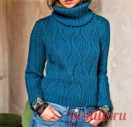 3 красивых свитера, связанных спицами (описание и схемы) | Идеи рукоделия | Яндекс Дзен