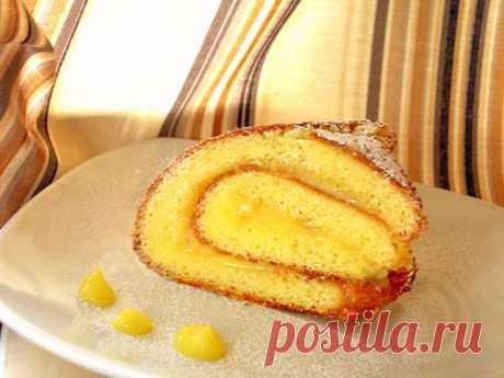 Рецепт - Рулет с лимоном