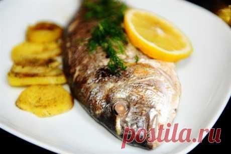 Дорада в духовке с лимоном и базиликом рецепт – европейская кухня, низкокалорийная еда: основные блюда