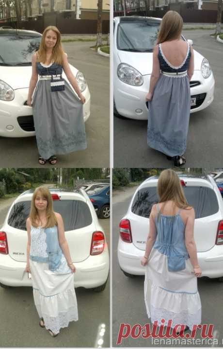 We sew interesting sundresses. Alteration from old jeans. Two master classes