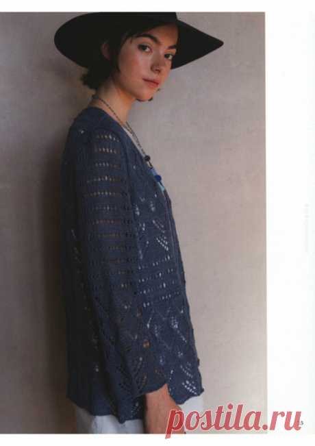 "Кардиган из журнала ""Let's Knit Series"" NV80566 2018г"