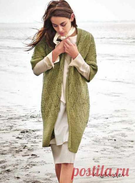 Удлинённый узорный жилет. Вязание спицами, схемы вязания жилета для женщин с описанием и выкройкой