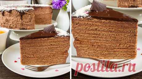Шоколадно-медовый торт. Самый вкусный из медовиков Попробовала первый раз в гостях у подруги. Вкус восхищает!