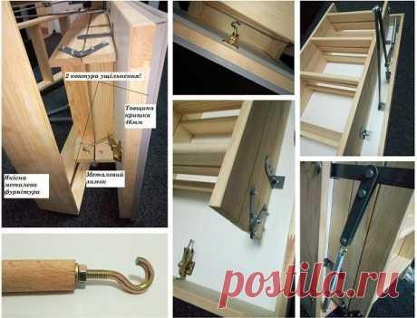 Чердачная лестница ( 46 мм утеплённая крышка) 5лет гарантии: 1 900 грн. - Прочие стройматериалы Киев на Olx