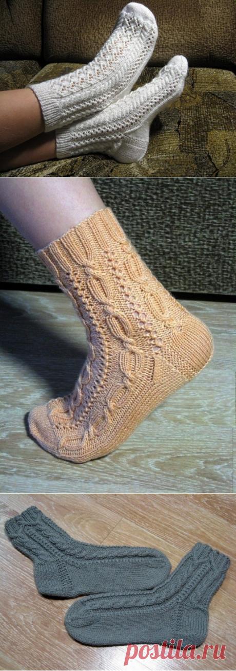 Любите вязать спицами? Тогда ловите подборку ажурных носочков! из категории Интересные идеи – Вязаные идеи, идеи для вязания