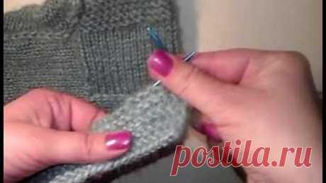 Тапочки Следки Носки спицами без шва на двух спицах/Самый простой способ