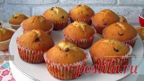 Пышные и вкусные кексы на сметане