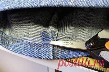Как подшить джинсы, если «машинка не берет»? (Шитье и крой) — Журнал Вдохновение Рукодельницы