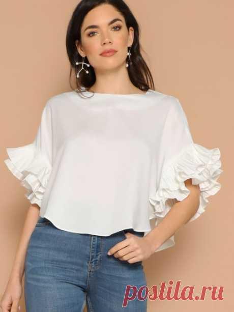 Летние блузы с оригинальными рукавами: восхитительные идеи