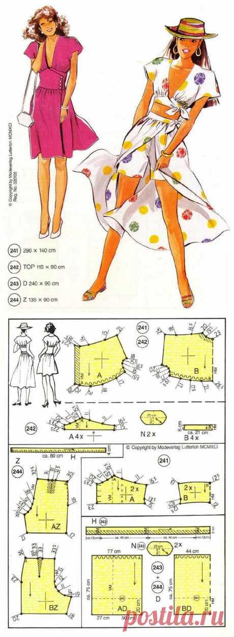 Летний комплект. Летнее платье