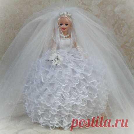 Кукла-шкатулка-невеста ручной работы