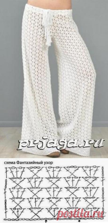 Ажурные брюки крючком