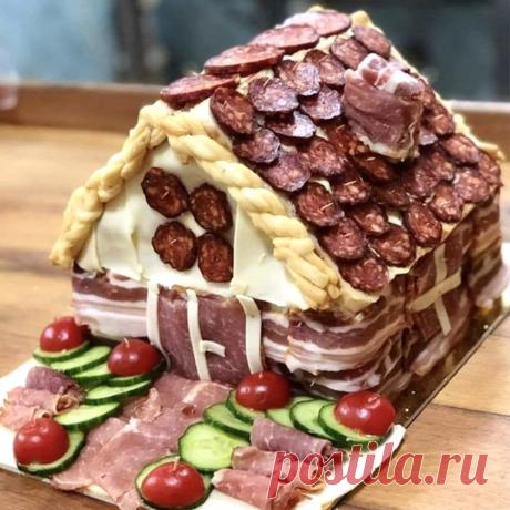 Люди со всего мира строят домики-закуски из мяса и сыра для новогоднего стола. Есть чему поучиться! | Ананас | Яндекс Дзен