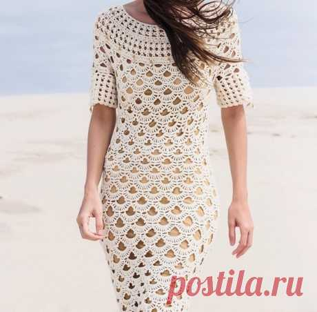 Платье от Helen Rodel со схемами. Дизайнерское платье крючком+СХЕМЫ. | Домоводство для всей семьи.