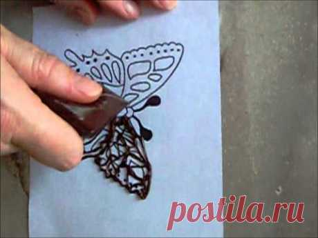 МК шоколадных бабочек