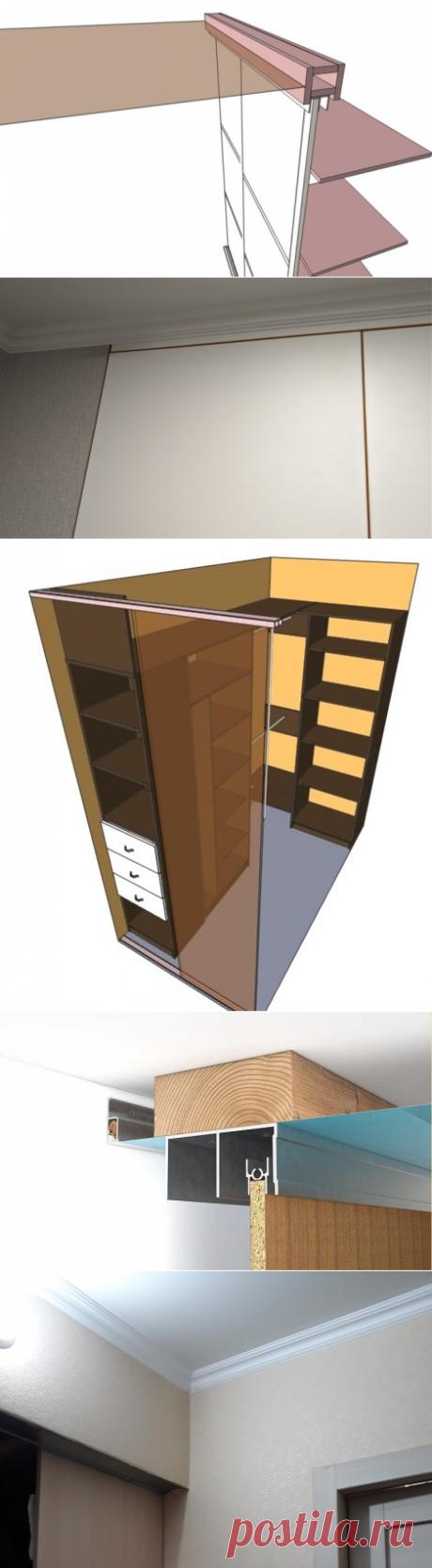 Что раньше устанавливать - шкаф-купе или натяжной потолок? | Мебель своими руками | Яндекс Дзен