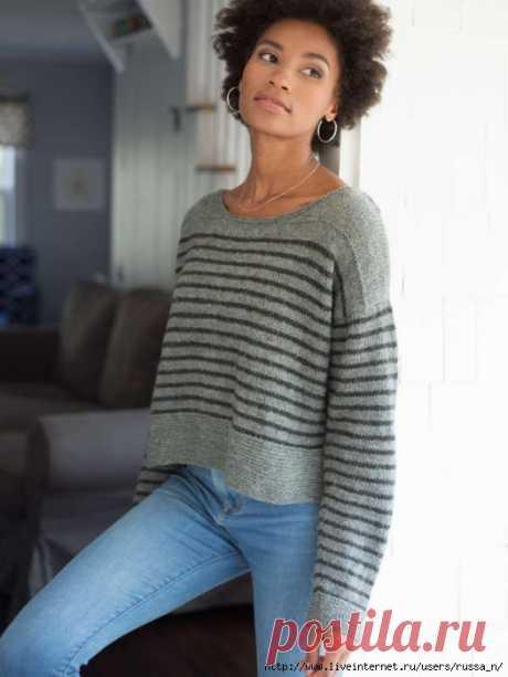 """Пуловер спицами """"PARNELL"""" от Berroco"""
