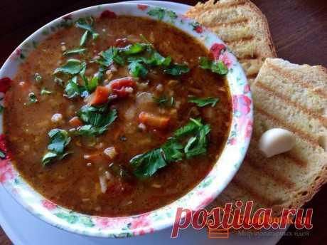 Суп харчо | Foodbook.su Сегодня мы поделимся с Вами рецептом приготовления супа харчо. В интернете очень много рецептов этого блюда, но мы решили приготовить без орехов. А соус ткемали сделал свое дело, суп получился очень