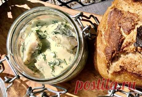 Домашняя маринованная сельдь в горчичном соусе
