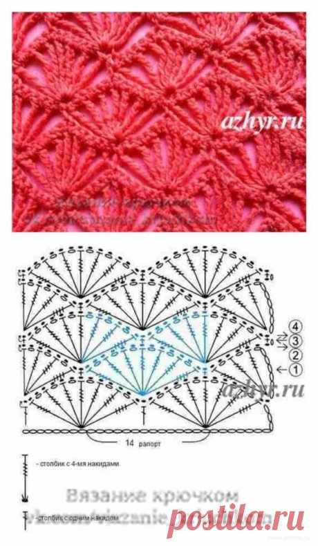 9 схем для вязания пледов крючком (и не только пледов) | Рукоделие