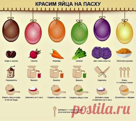 Красим яйца к Пасхе натуральными красителями