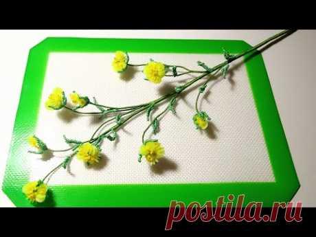 Декоративная веточка из пайеток и бисера Мастер класс (Авторский) Цветы из бисера Bead DIY