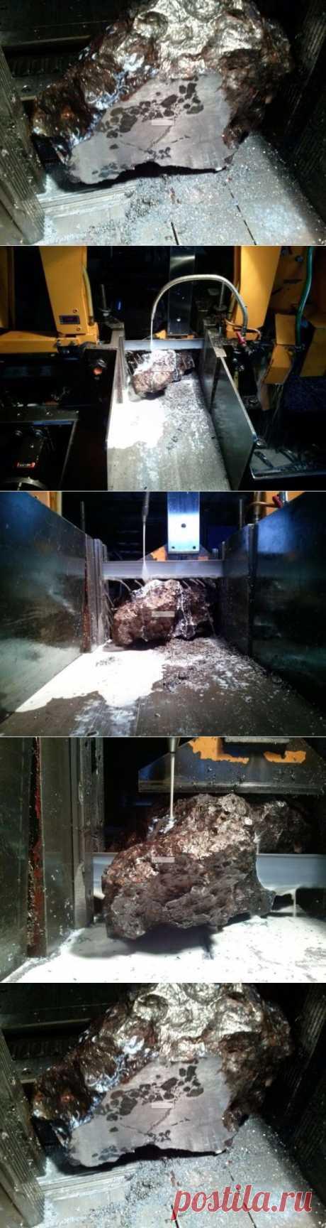 Как выглядит Челябинский метеорит в разрезе - Фото - Калейдоскоп Эмоций