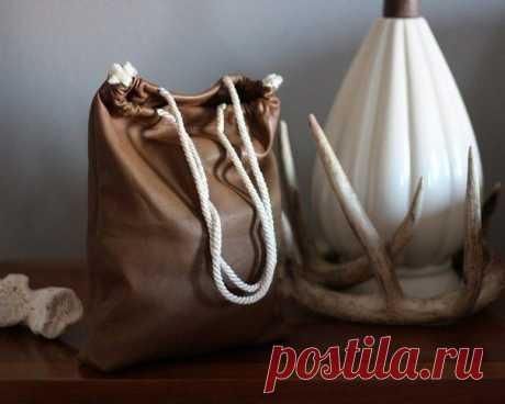 Простая сумка своими руками из экокожи