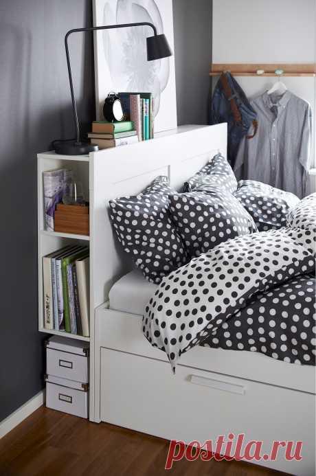 Как организовать хранение в крохотной спальне: 20 гениальных идей - Postel-Deluxe.ru