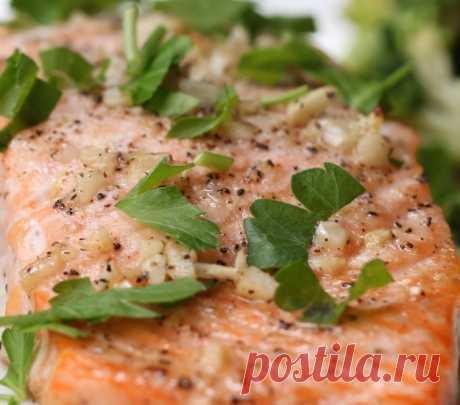 Ароматный лосось в чесночном масле. Вкус непревзойденный! Ела бы каждый день!