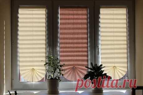 Рулонные шторы из старых обоев | Наши дома