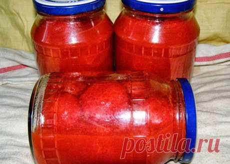 Рецепты помидор в томатной пасте на зиму в банках