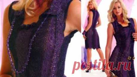 Вязание крючком: вечернее платье