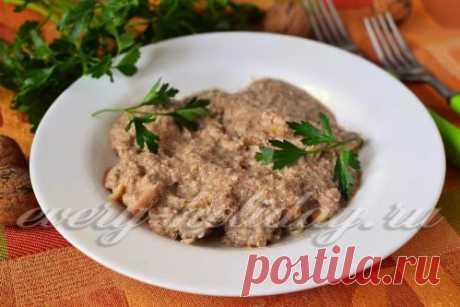 Сациви из курицы по-грузински, пошаговый рецепт с фото