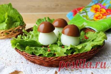 Яйца фаршированные «Боровички» — оригинальная закуска на праздник