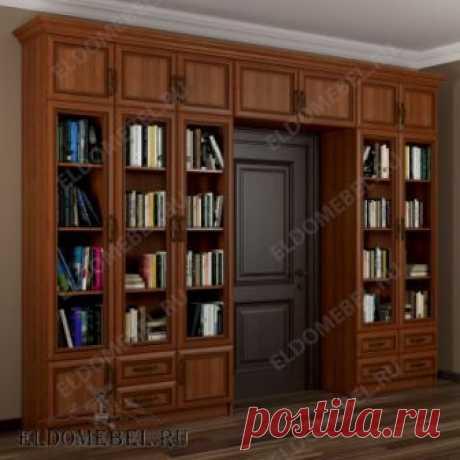Шкаф книжный вокруг дверного проема, модель №5, в цвете «ольха»   Мебельный магазин «ЭльДо Мебель»: Москва, Санкт-Петербург
