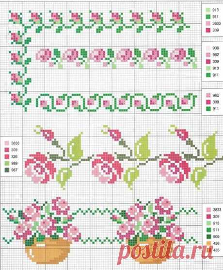 Patterns for embroidery or weaving | Flower