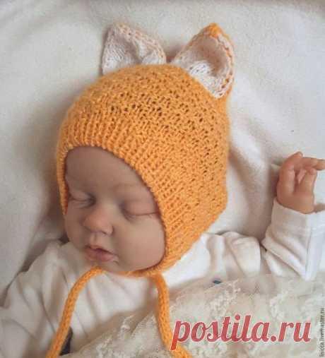 поиск на постиле вязаные шапочки для малышей