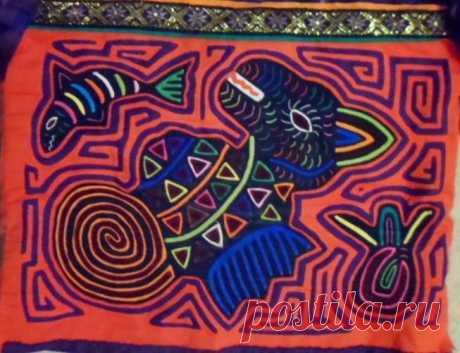 Kuna Tribe Dragon Mola Blouse Panama San Blas-17100503L | eBay