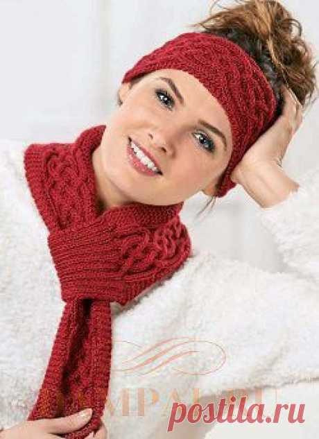 Bandage on the head and a small scarf | Damskiye Palchiki. ru