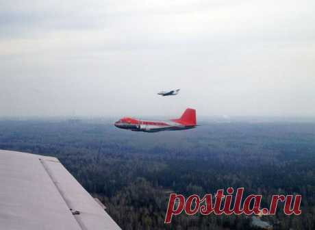 Полёт Ил-14, Л-29 и Як-18Т