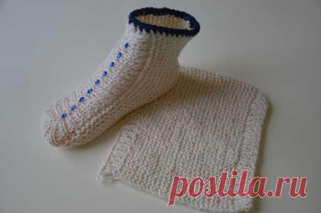 Носочки двумя спицами на скорую руку   Модное Хобби   Яндекс Дзен