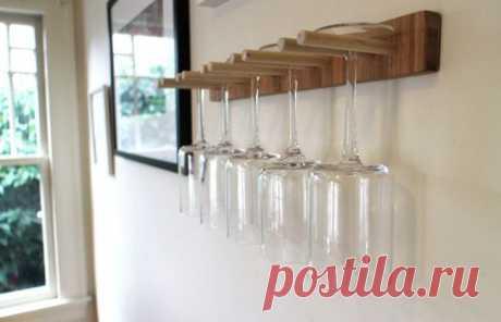 Кухонный держатель для бокалов | Своими руками