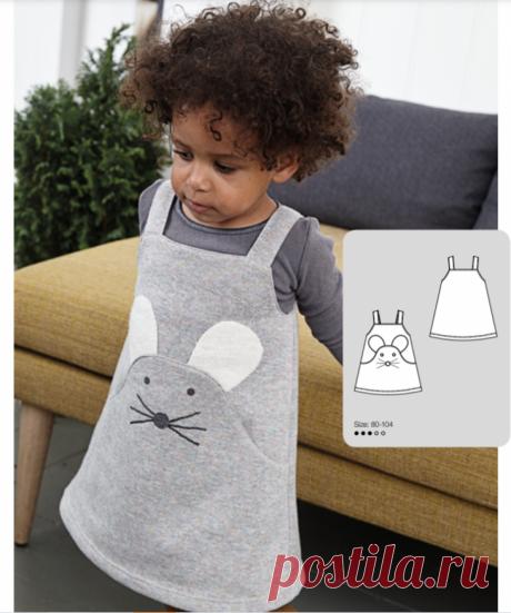 """Выкройка для малышек: сарафанчик """"мышка"""""""