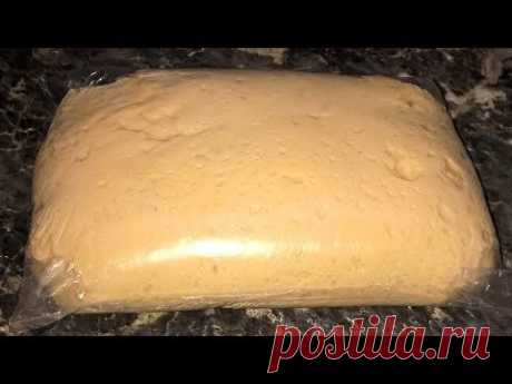 Dough as down. Universal yeast dough as easy as shelling pears. Dough in 5 minutes for any pastries.