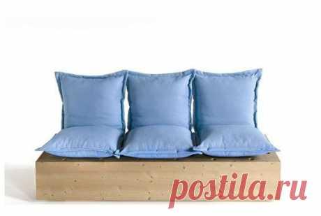 Простой и одновременно неожиданный вариант мебели-трансформера для дачи