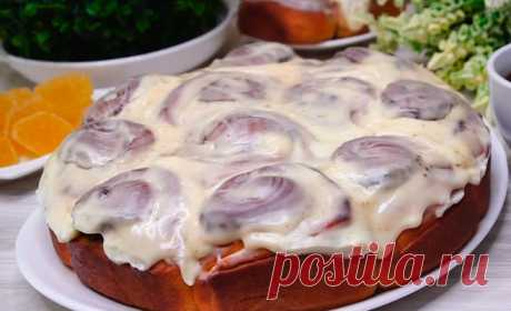Отрывной пирог «Синабон» с кремом и корицей — истинное наслаждение. Поверьте, это нереально вкусно!
