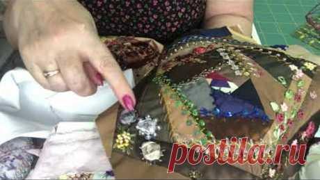 Вышиваем розочки тремя способами. Вышивка лентами и мулине. Розочки из лент. Утилизация лент. МК/DIY