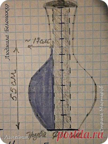 МК картонной основы для напольной вазы. Часть 1. | Страна Мастеров